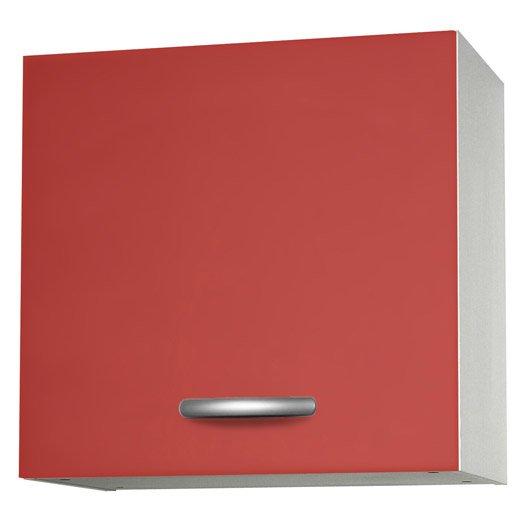 Meuble De Cuisine Haut 1 Porte Rouge L60x