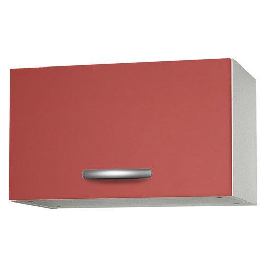 Meuble de cuisine haut 1 porte rouge l60x - Meuble haut profondeur 20 cm ...