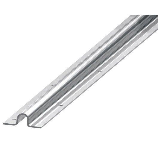 rail visser en acier galvanis pour portail coulissant gorge u haut 16 mm leroy merlin. Black Bedroom Furniture Sets. Home Design Ideas