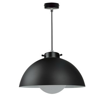 Suspension, e27 design Kiruna verre noir 1 x 40 W INSPIRE