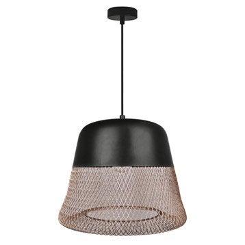 Suspension, e27 design Tofua métal noir et cuivre 1 x 60 W INSPIRE