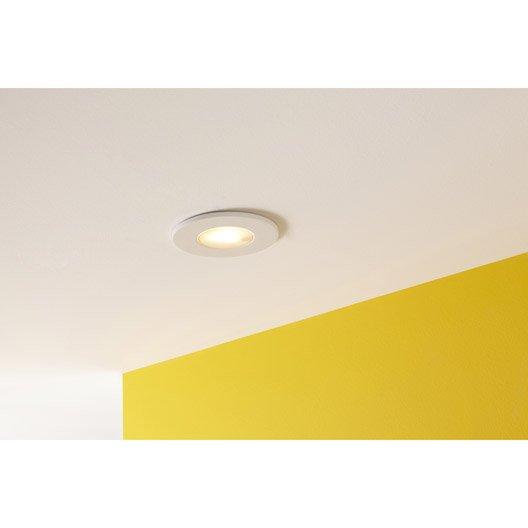 kit 1 spot encastrer salle de bains integra fixe inspire led int gr e blanc leroy merlin. Black Bedroom Furniture Sets. Home Design Ideas