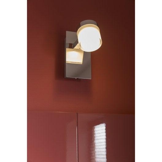 spot pat re coos led 1 x 4 5 w led int gr e blanc chaud leroy merlin. Black Bedroom Furniture Sets. Home Design Ideas
