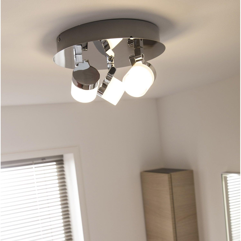 Plafonnier 3 spots Coos, LED 3 x 4.5 W, LED intégrée blanc chaud ...