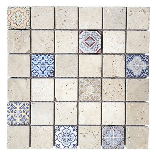 Awesome mosaique travertin leroy merlin ideas lalawgroup us