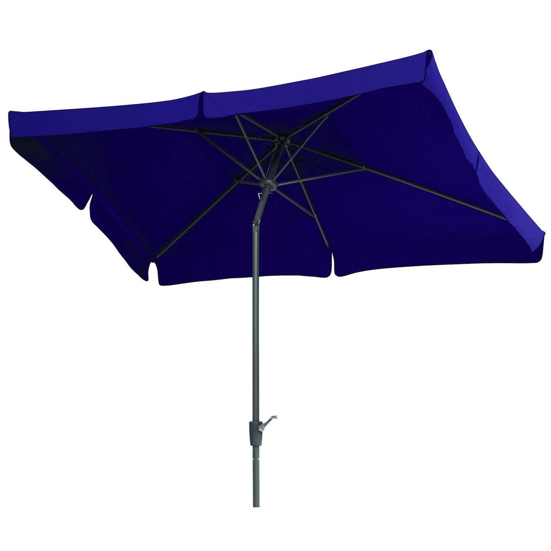 parasol droit new york aubergine rectangulaire x l. Black Bedroom Furniture Sets. Home Design Ideas