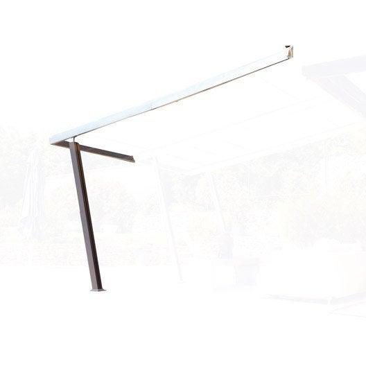extension de tonnelle adoss e boston luxe aluminium gris leroy merlin. Black Bedroom Furniture Sets. Home Design Ideas