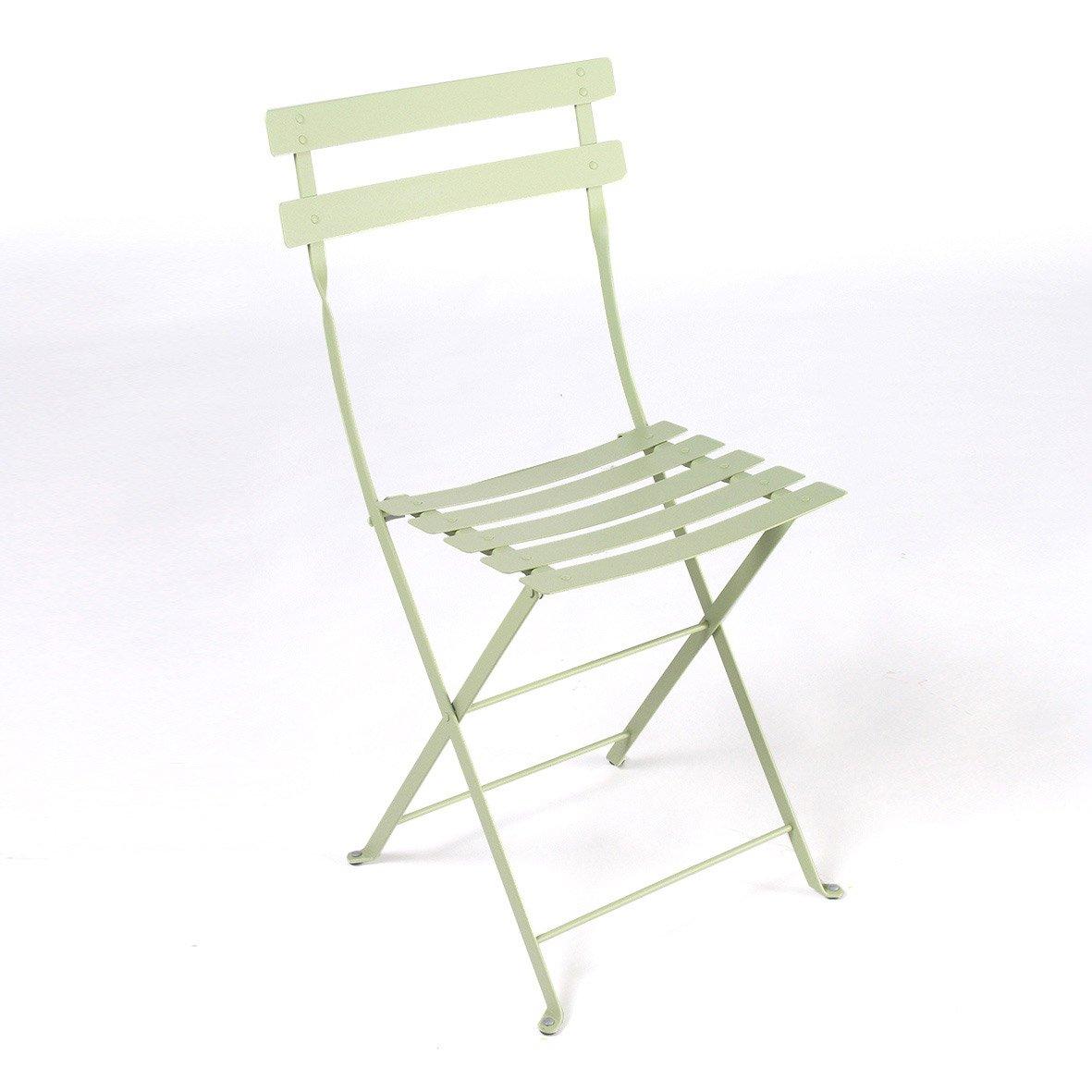 Chaise de jardin en acier Bistro tilleul | Leroy Merlin