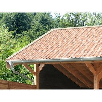 Plaque imitation tuile toiture abri de jardin bac acier toiture polycarbonate leroy merlin - Espacement chevron bac acier ...