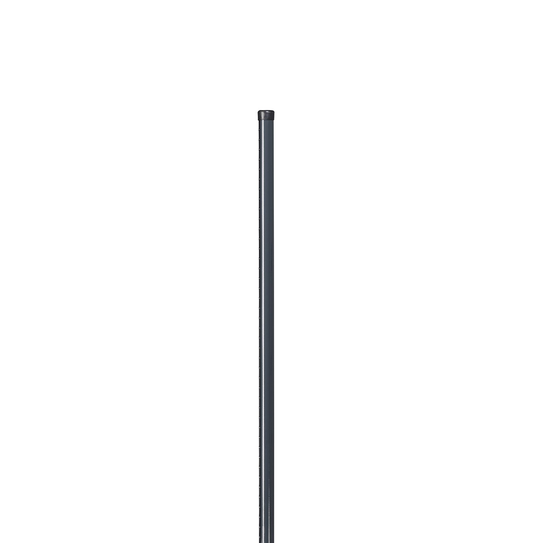 poteau acier galvanis rond univers gris x l 4 8 x p 4 8 cm leroy merlin. Black Bedroom Furniture Sets. Home Design Ideas
