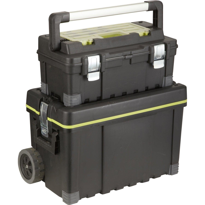 Roulante + boîte à outils de chantier plastique KETER, L.64.5 cm ... 2f766358a04d