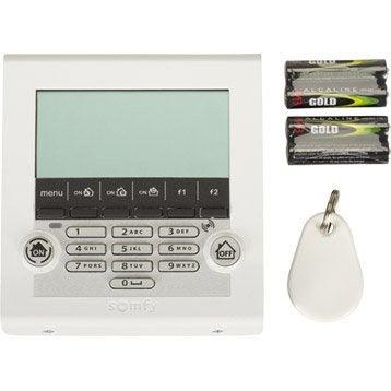 Clavier de contrôle à écran lcd avec 1 badge SOMFY