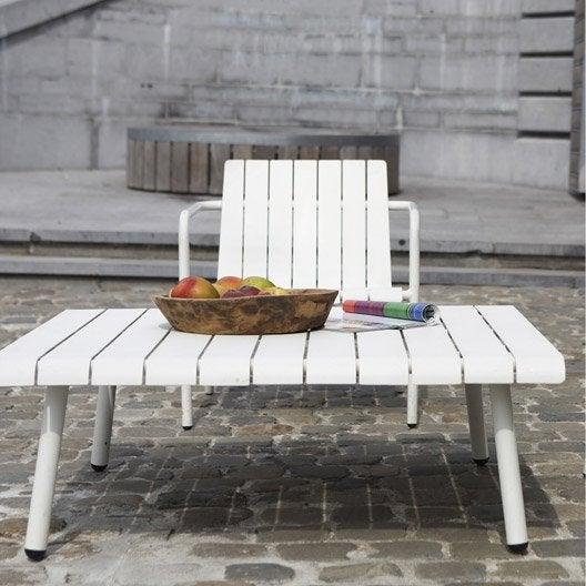 Table basse de jardin en aluminium exploration blanc naterial - Table de jardin ronde robin naterial ...