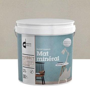 Enduit d coratif mat min ral maison deco cendre 6 kg for Crepi interieur leroy merlin