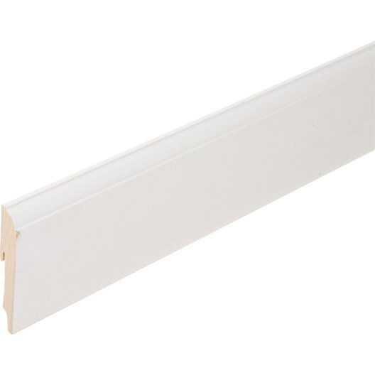 plinthe m dium mdf moulur e rev tu m lamin blanc 19 x. Black Bedroom Furniture Sets. Home Design Ideas