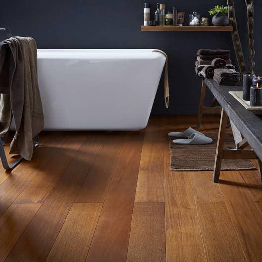 parquet massif merbau huil xl massif leroy merlin. Black Bedroom Furniture Sets. Home Design Ideas