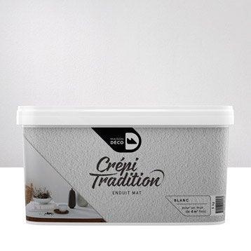 Peinture à effet, Crépi tradition MAISON DECO, blanc, 5 kg