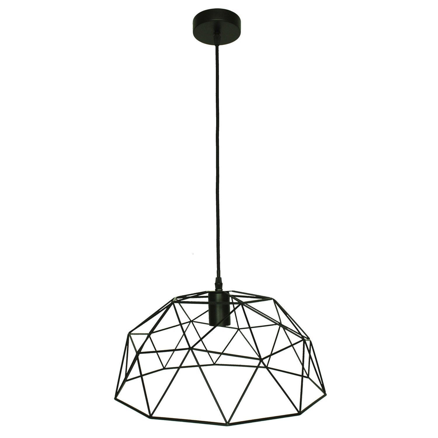 Suspension, e27 design Wireframe métal noir 1 x 60 W INSPIRE