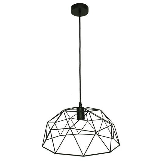 Suspension design wireframe m tal noir 1 x 60w w inspire leroy merlin - Suspension new york leroy merlin ...