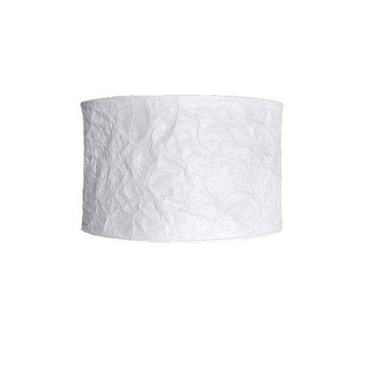 Suspension design krebo tissus blanc inspire leroy merlin for Tissus mural leroy merlin