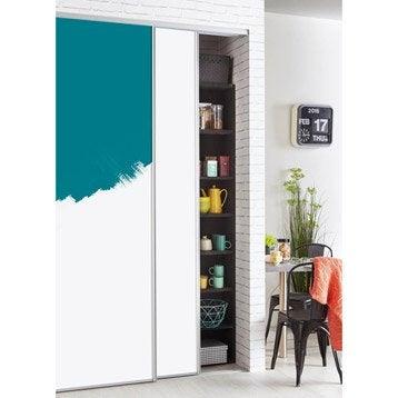 Porte de placard standard coulissante et pliante leroy for Porte coulissante 150 cm