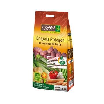 Engrais naturel potagers SOLABIOL 5kg 50 m²