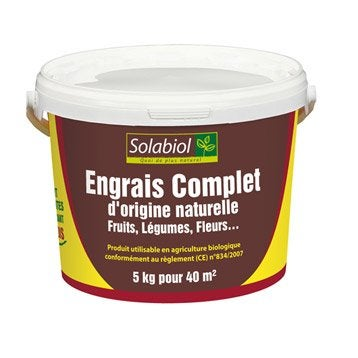 Engrais naturel complet SOLABIOL 5kg 42 m²