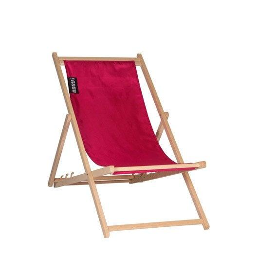 Bain de soleil transat hamac chaise longue leroy merlin for Transat jardin rose
