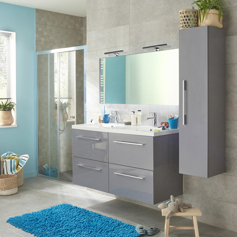 Meuble de salle de bains gris, Maelle | Leroy Merlin