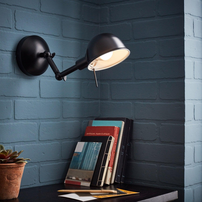 Applique, moderne métal noir BRILLIANT Vitali 1 lumière(s)