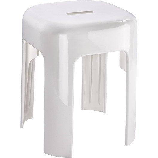 Tabouret et marchepied de salle de bains au meilleur prix - Tabouret plastique pour salle de bain ...
