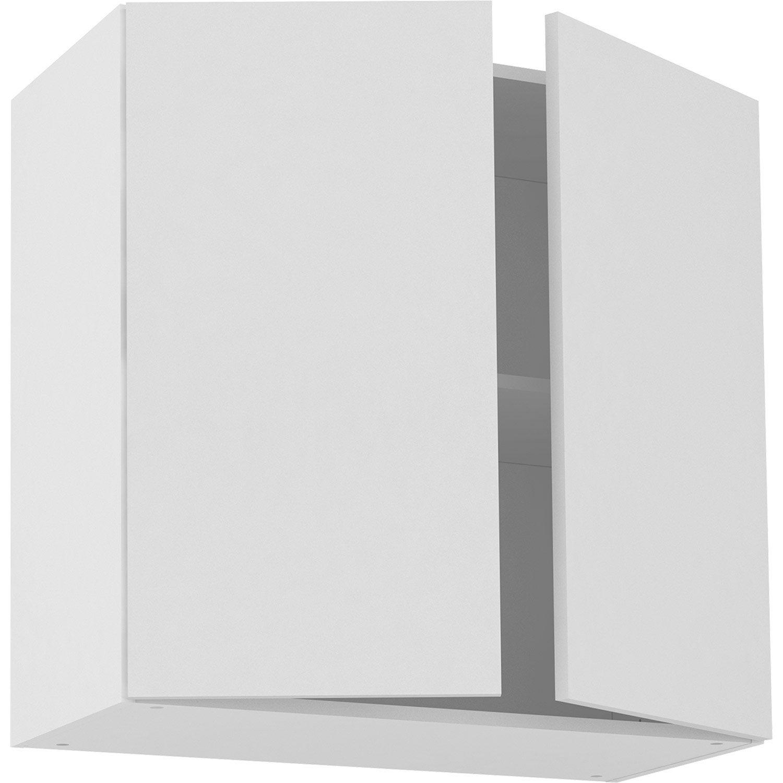 Meuble haut de cuisine Sofia blanc, 10 portes H10xl10