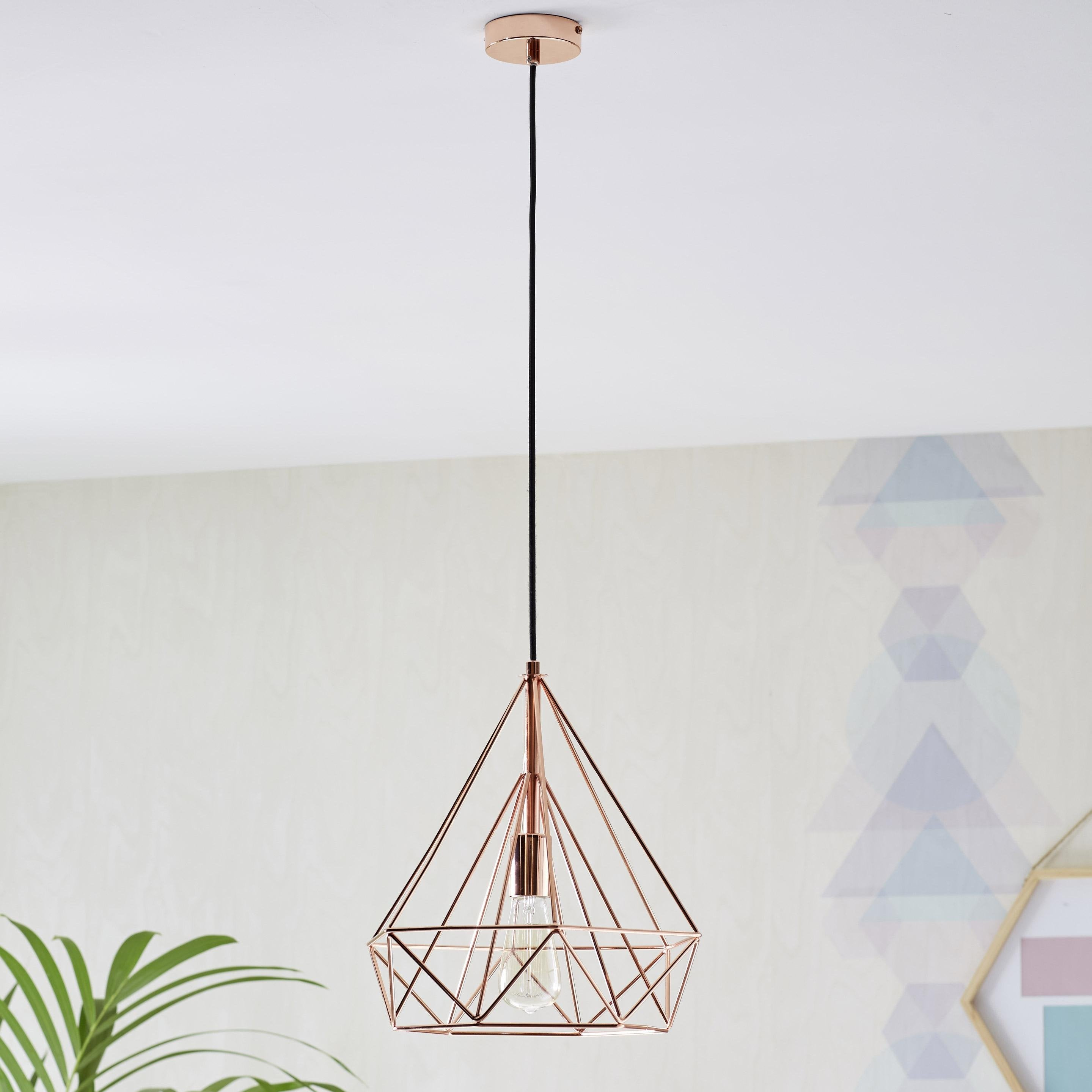 Suspension, e27 design Byron métal cuivre 1 x 60 W INSPIRE