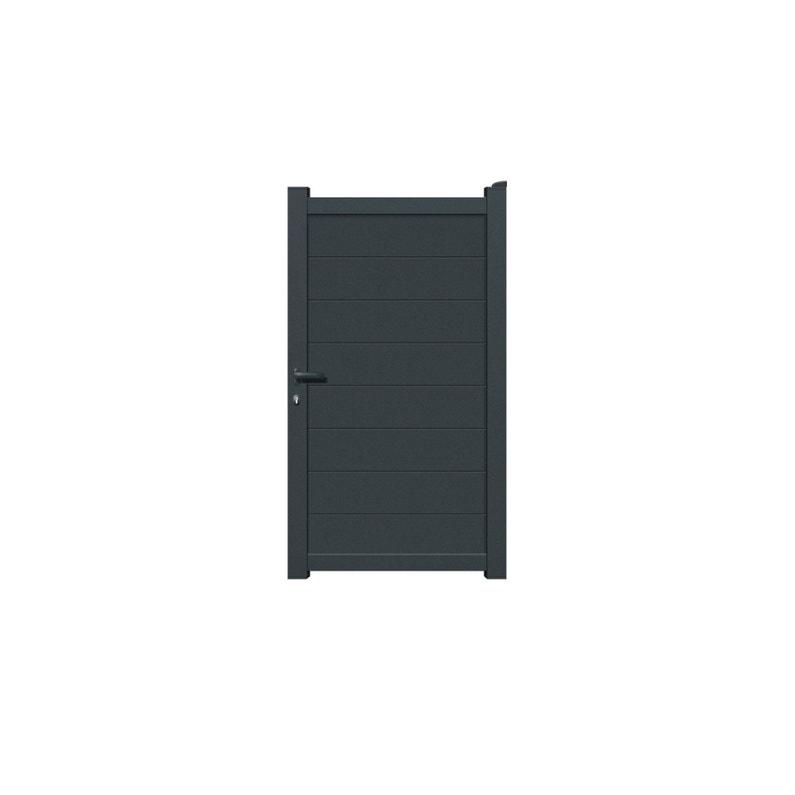 Portillon Battant Prado L100 X H1782 Cm Gris Anthracite