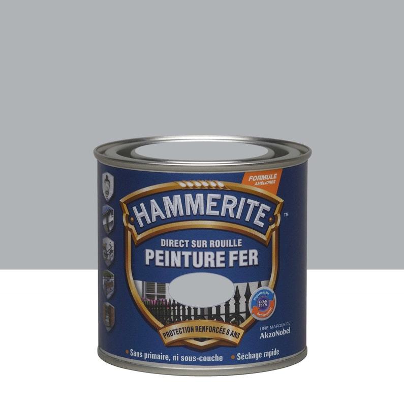 Peinture Fer Extérieur Hammerite Gris Argent 0 25 L