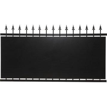 Clôture fer Tangara noir, H.108 x l.200 cm