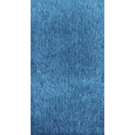 Tapis turquoise shaggy lilou x cm leroy merlin - Tapis shaggy turquoise ...