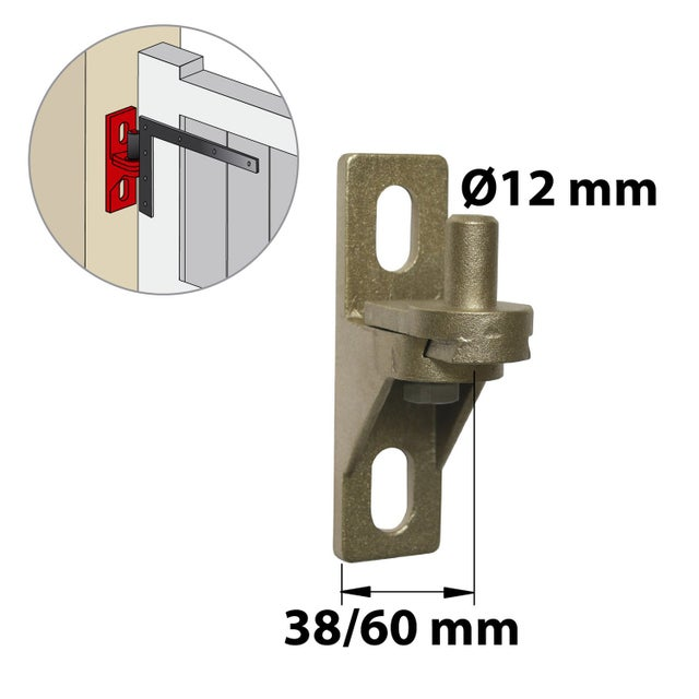 Gond Métal Brut H100 X L30 X P45 Mm