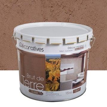 Enduit d coratif brut de terre les decoratives beige argile 15 kg - Crepi interieur leroy merlin ...