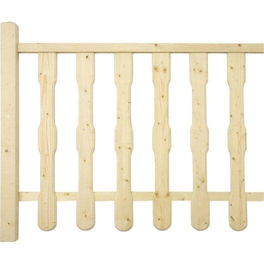 main courante en sapin 45x45 long 2m leroy merlin. Black Bedroom Furniture Sets. Home Design Ideas