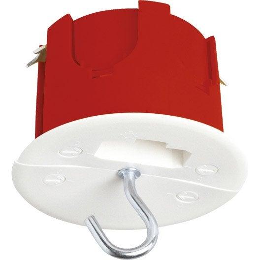Bo te d 39 encastrement dcl pour plafond plaque de pl tre 1 poste debflex leroy merlin - Plaque isolante pour plafond ...
