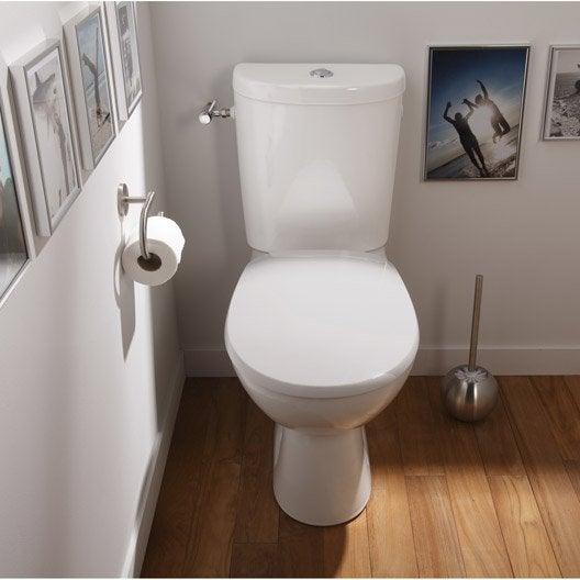 Pack wc poser sortie horizontale sensea remix leroy for Carrelage toilette suspendu