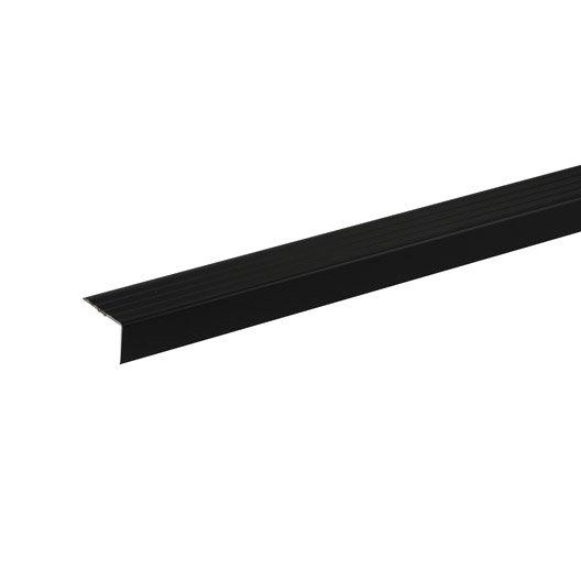 Nez de marche parquet et sol stratifié noir, L.110 cm x H.32 x Ep.20