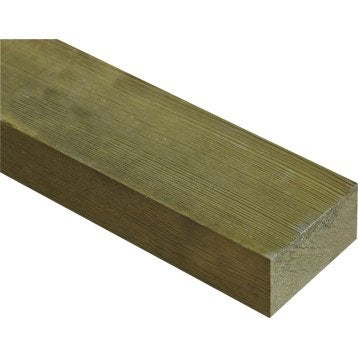 Lambourde (1/2 chevron) pin traité 40x75 mm 3 m chx1