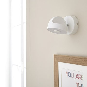 Spot patère led, 1 x LED intégrée, blanc Jino INSPIRE