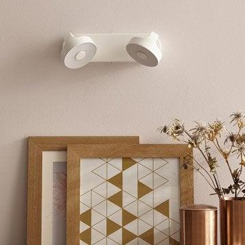 Rampe 2 spots led, 2 x LED intégrée, blanc Jino INSPIRE
