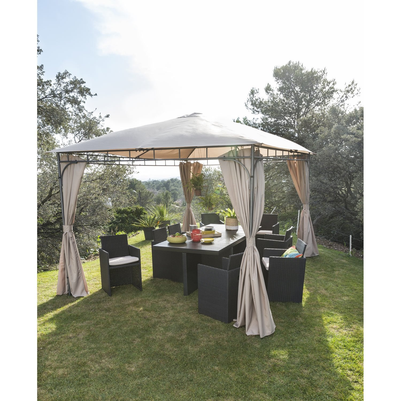 salon de jardin encastrable r sine tress e noir 8. Black Bedroom Furniture Sets. Home Design Ideas