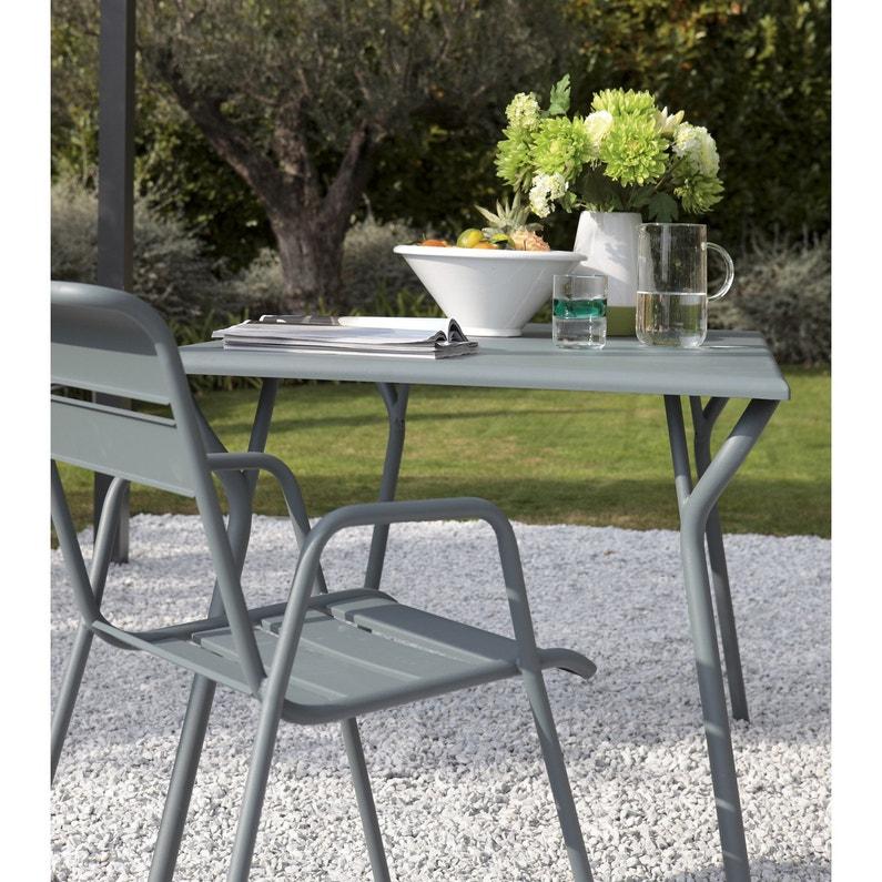 Table de jardin FERMOB Monceau rectangulaire gris orage 6 personnes ...