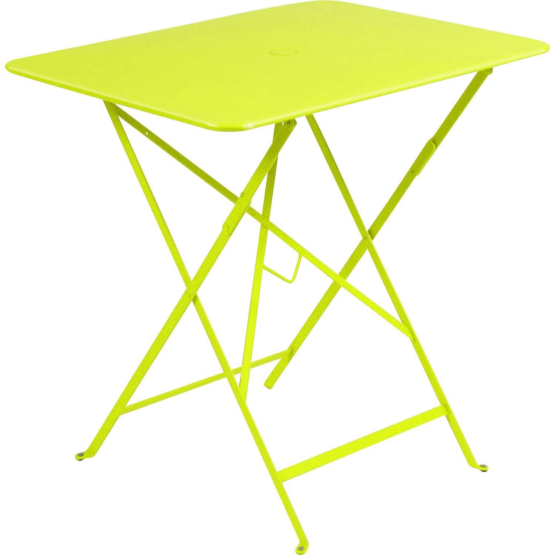 table de jardin fermob bistro rectangulaire verveine 2. Black Bedroom Furniture Sets. Home Design Ideas