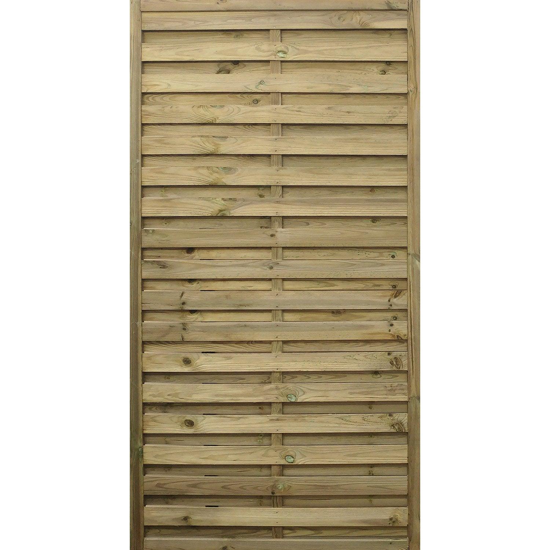 Panneau bois occultant Noa l90 x H180 cm naturel ...